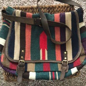 Handbags - Striped Indian crossbody bag